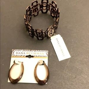 Dana Buchman set earrings bracelet
